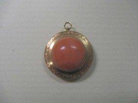 Vintage 14k YG Coral Pin/Pendant