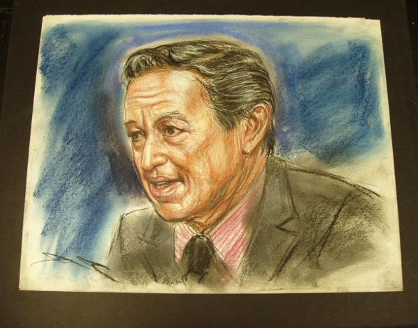 """7023: FREDA REITER """"MIKE WALLACE"""" SKETCH"""