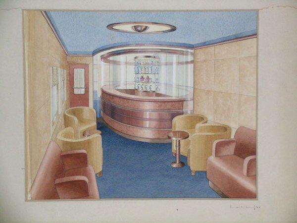2036: Raymond F. Loewy Pennsylvania Railroad Rendering