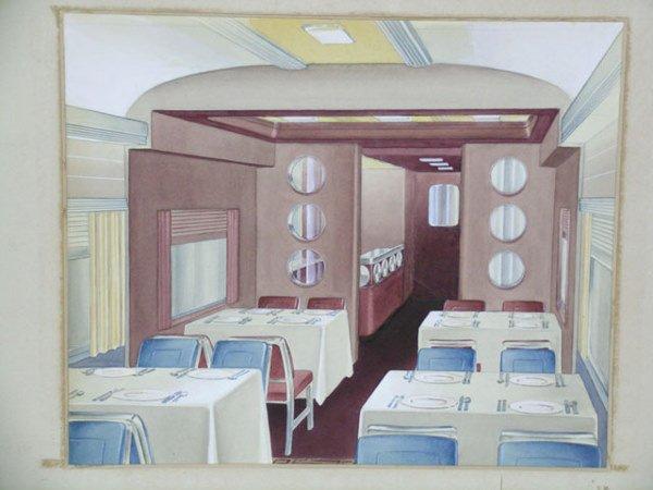 2038: Raymond F. Loewy Pennsylvania Railroad Rendering