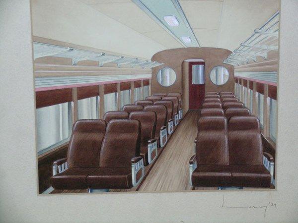 2040: Raymond F. Loewy Pennsylvania Railroad Rendering