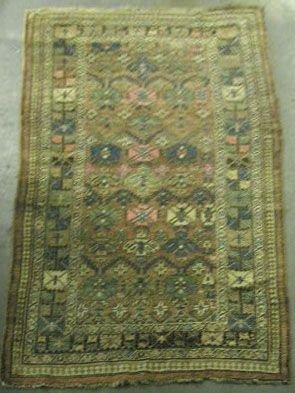 3002: Semi-antique Caucasian area carpet