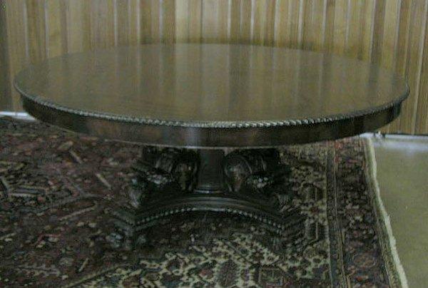 3017: Empire Revival mahogany dining table
