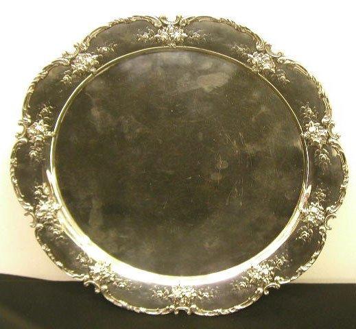 8002: Shiebler sterling silver serving tray