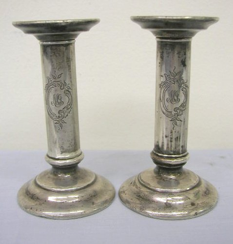 8007: Tiffany & Co. sterling candlesticks