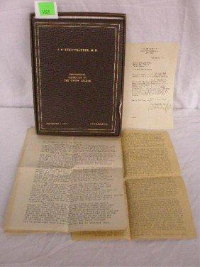 1003: Union League Testimonial Guest Book