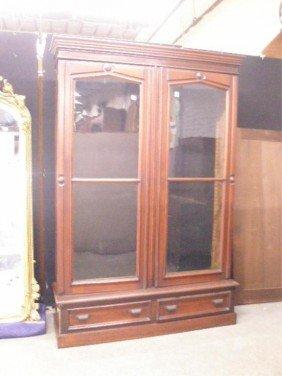 1024: Eastlake Walnut Twin-Door Bookcase