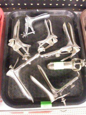 Lot OF 7 Gynecological Speculums