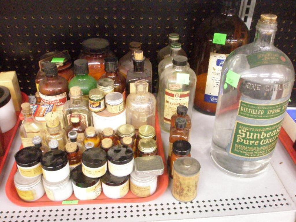 1067: 49 Vintage medicinal bottles