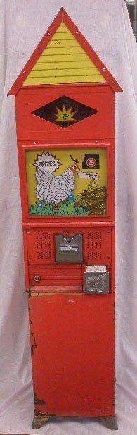 1097: 1960's Northwestern Pecking Chicken Machine
