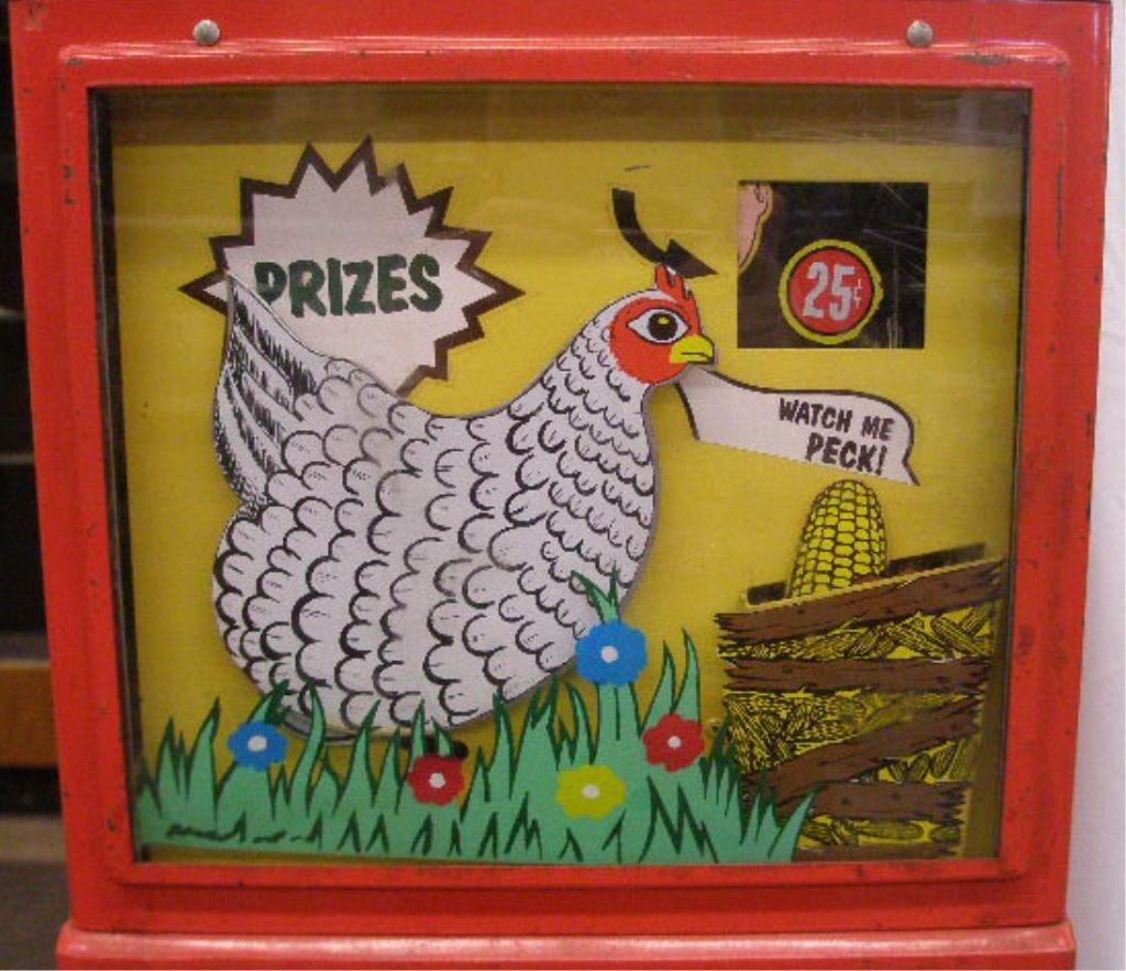 1097: 1960's Northwestern Pecking Chicken Machine - 5