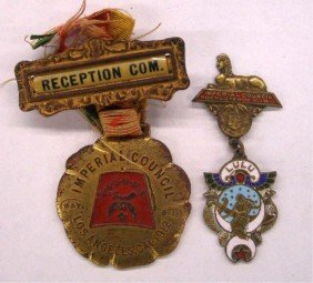 1911 & 1912 Shriners Council Session Pins