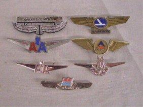 Vintage Plastic & Metal Airline Pins