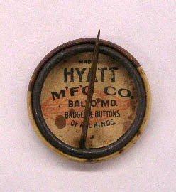 """1151: 1908 Taft/Sherman 7/8"""" Jugate Pin - 2"""