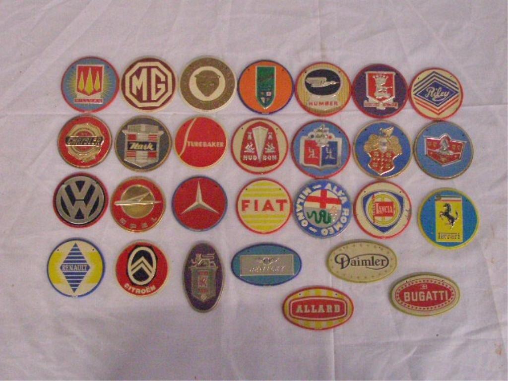 1295: 1950's Wheaties Cereal Premium Car Emblems