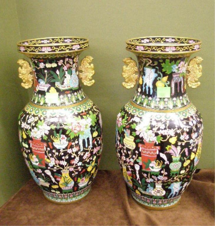 1006: Pr Chinese Cloisonne Vases