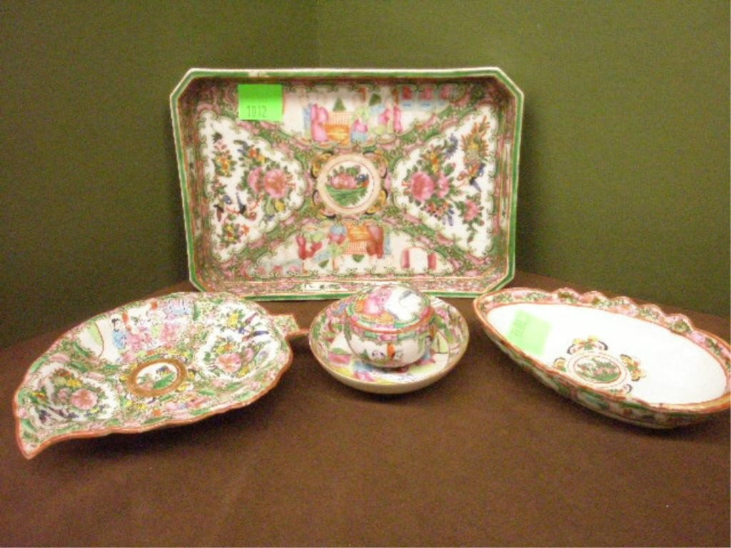 1012: Chinese Rose Medallion dishes