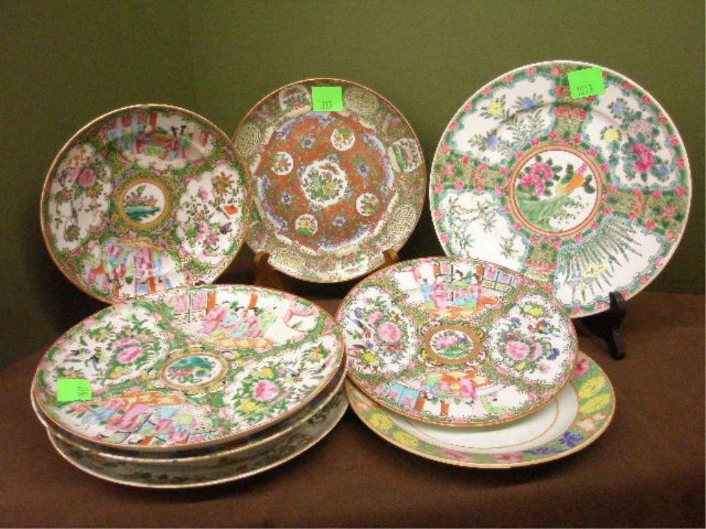 1013: 8 Chinese Porcelain Plates