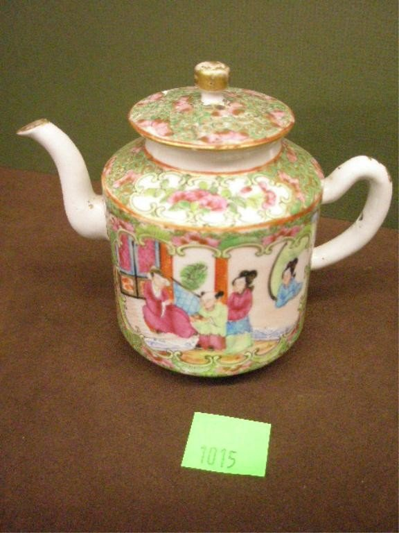1015: Rose Medallion Small Teapot