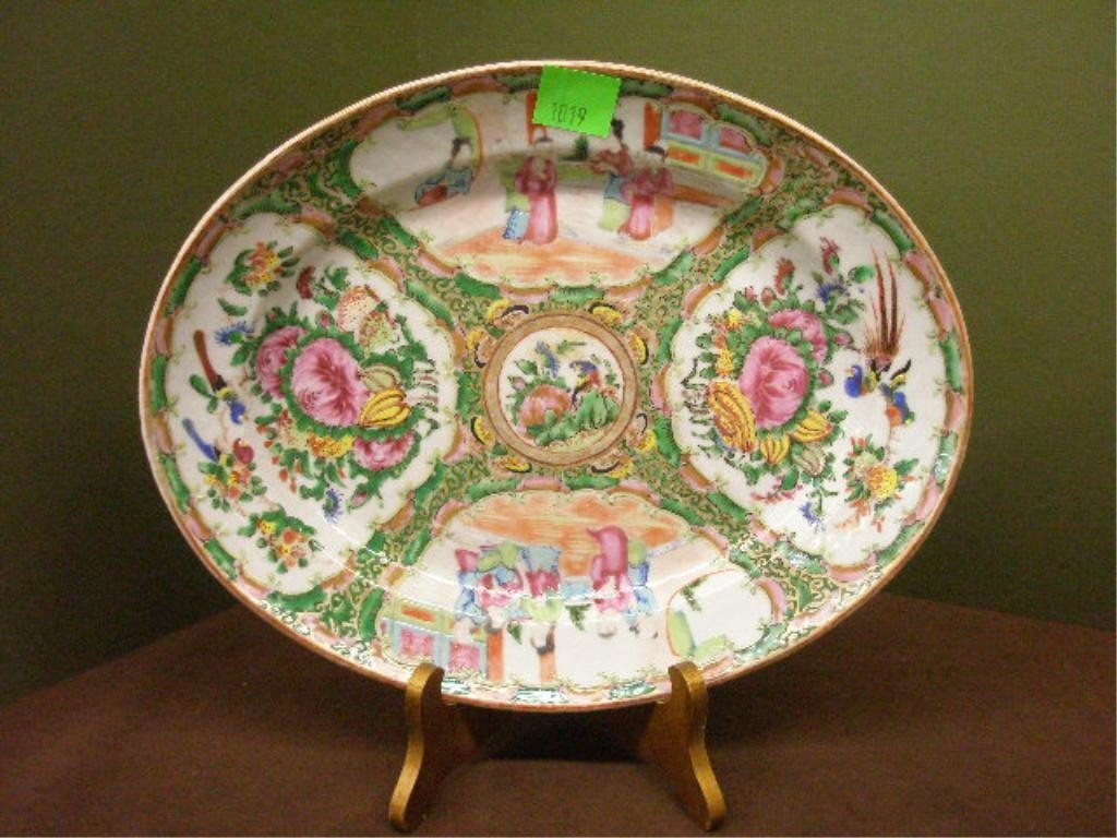 1019: Chinese Rose Medallion Oval Platter