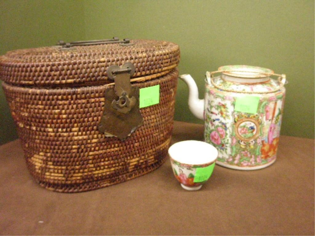 1024: Chinese Rose Medallion Teapot