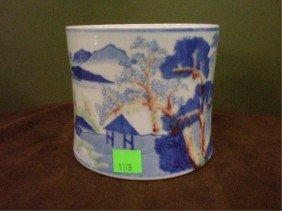 Chinese Large Porcelain Brush Pot