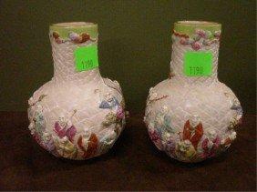 Rare Pr Chinese Porcelain Vases