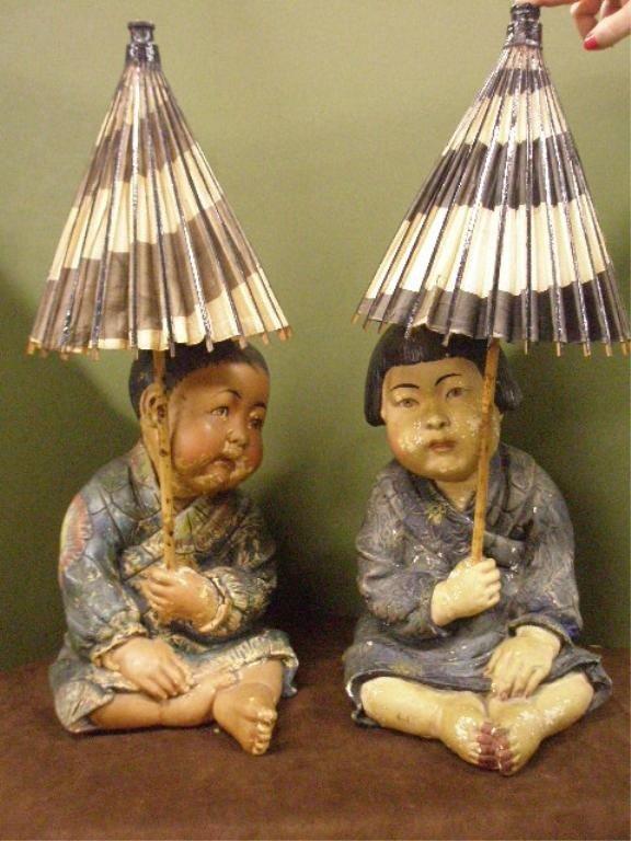 1207: Pr Chinese Chalk child Figures