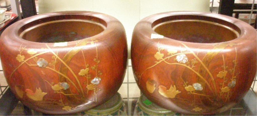 1214: Pr of Tea Ceremony Charcoal Warmers