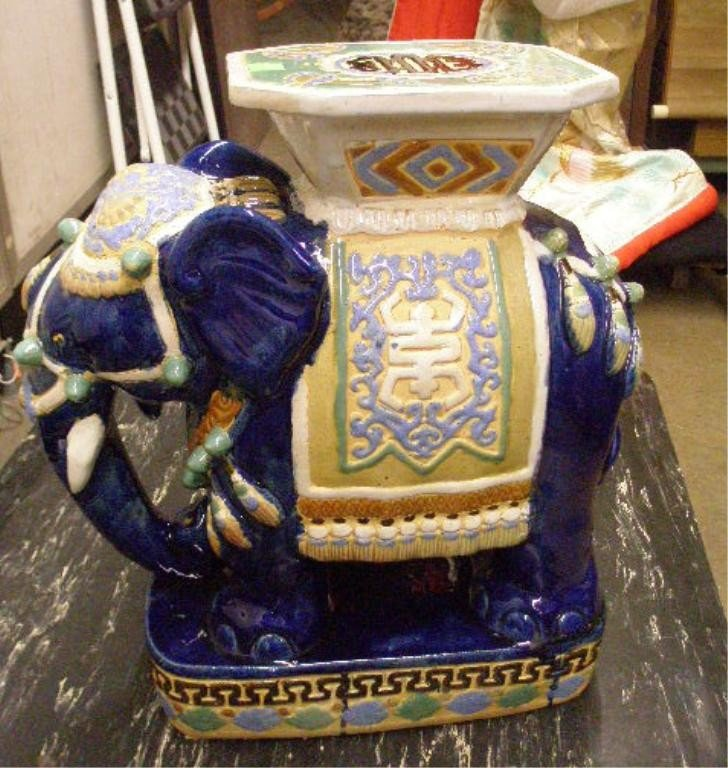 1221: Chinese Elephant Form Garden Seat