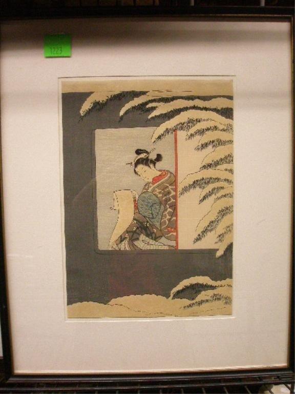1223: Japanese Wood Block Print