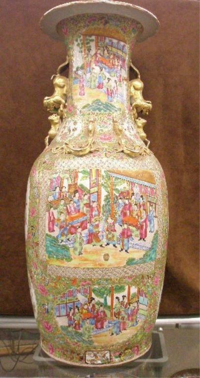 1232: 18th c. Rose Mandarin Palace Vase