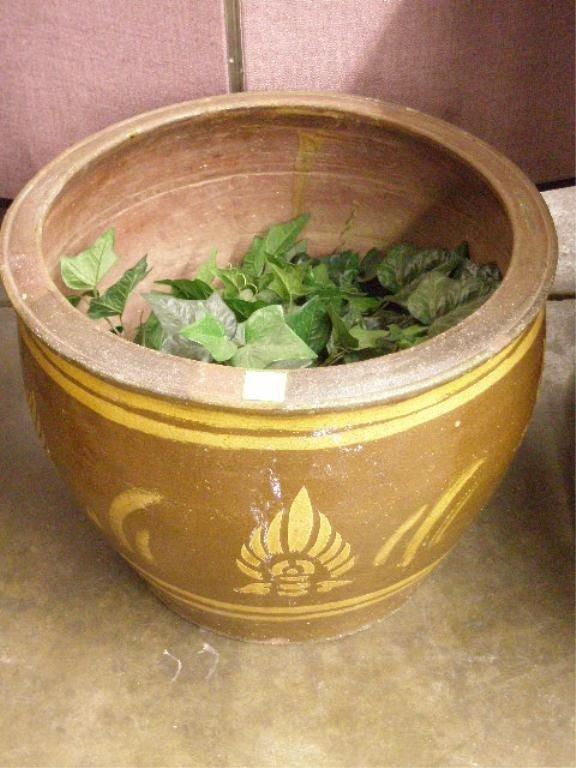 1241: Chinese Terracotta Jardiniere