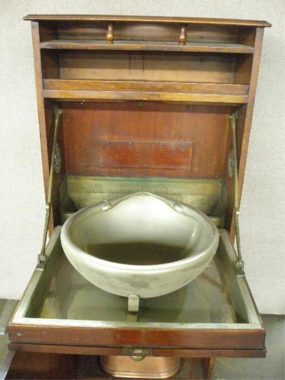 1308: Antique Ship's Washstand - 2