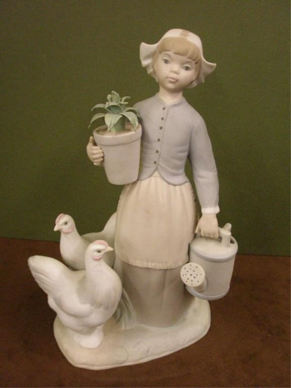2005: Lladro Girl with Hens Figure