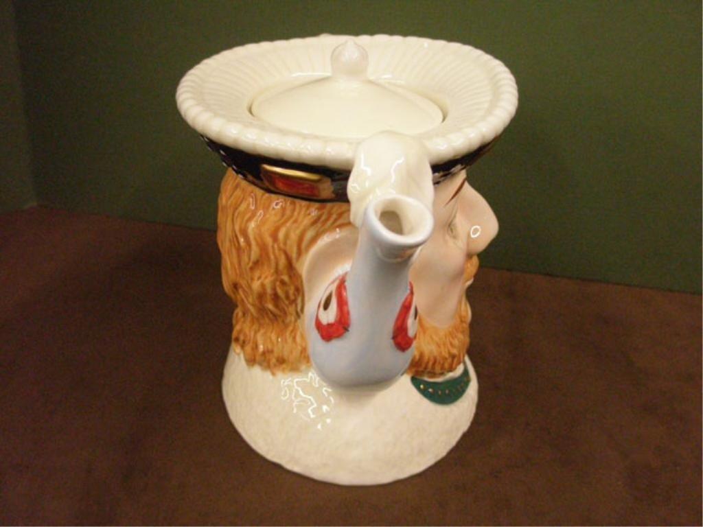 2029: James Sadler Pottery Henry VIII Teapot - 3