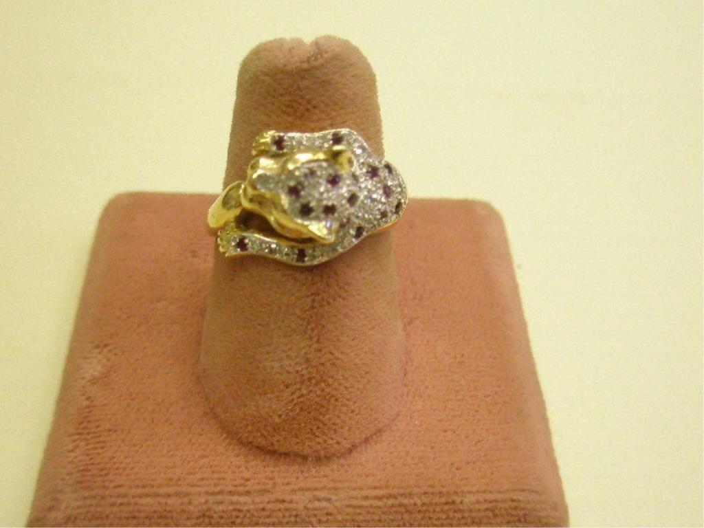 2236: 14k yg Lady's Panther Ring