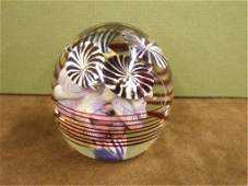 2405: Signed Contemporary Art Glass Paperweight