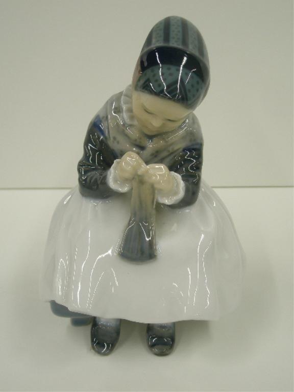 2013A: Royal Copenhagen Girl Knitting Figure