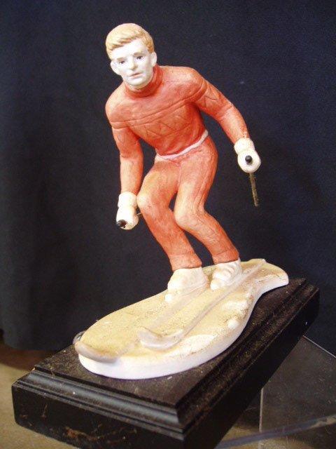 "6005: Goebel figure ""skier"" artist signed"