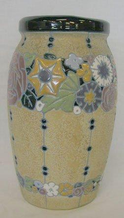 6160: Amphora Czech pottery vase