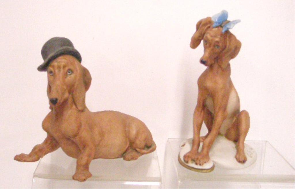 11: Giuseppe Cappe Porcelain Dog Figurines