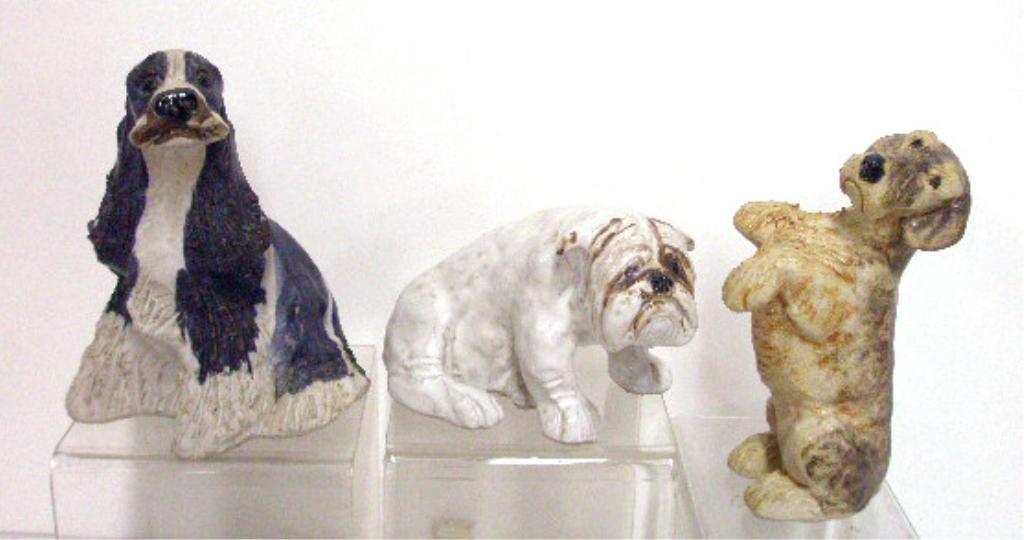 12: JIE Swedish Pottery Dog Figurines
