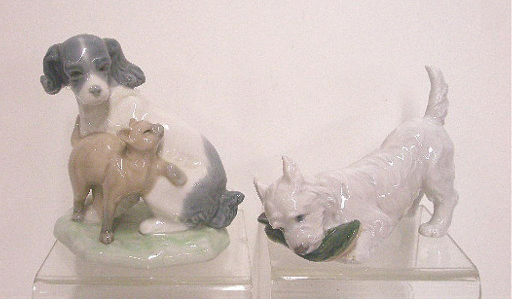 13: NAO & Royal Copenhagen Dog Figurines