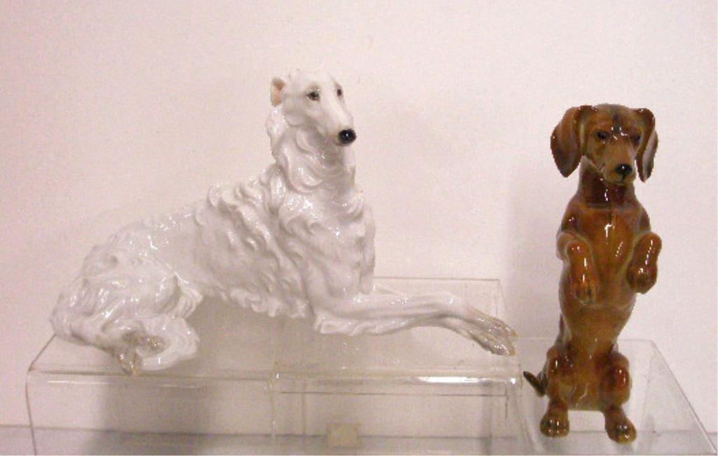14: Austrian & German Porcelain Dog Figurines
