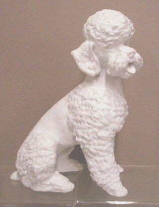 17: Kaiser Porcelain White Poodle Figurine