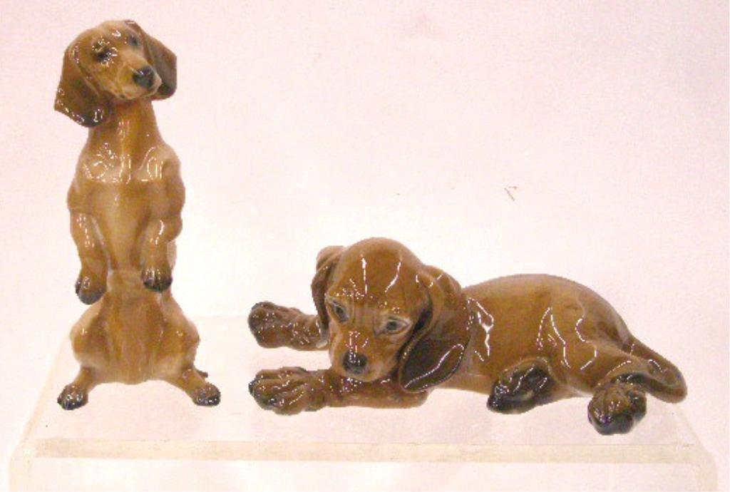 18: Rosenthal Porcelain Dachshund Figurines