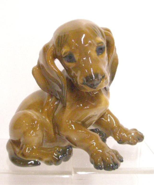 19: Rosenthal Porcelain Dachshund Figurine