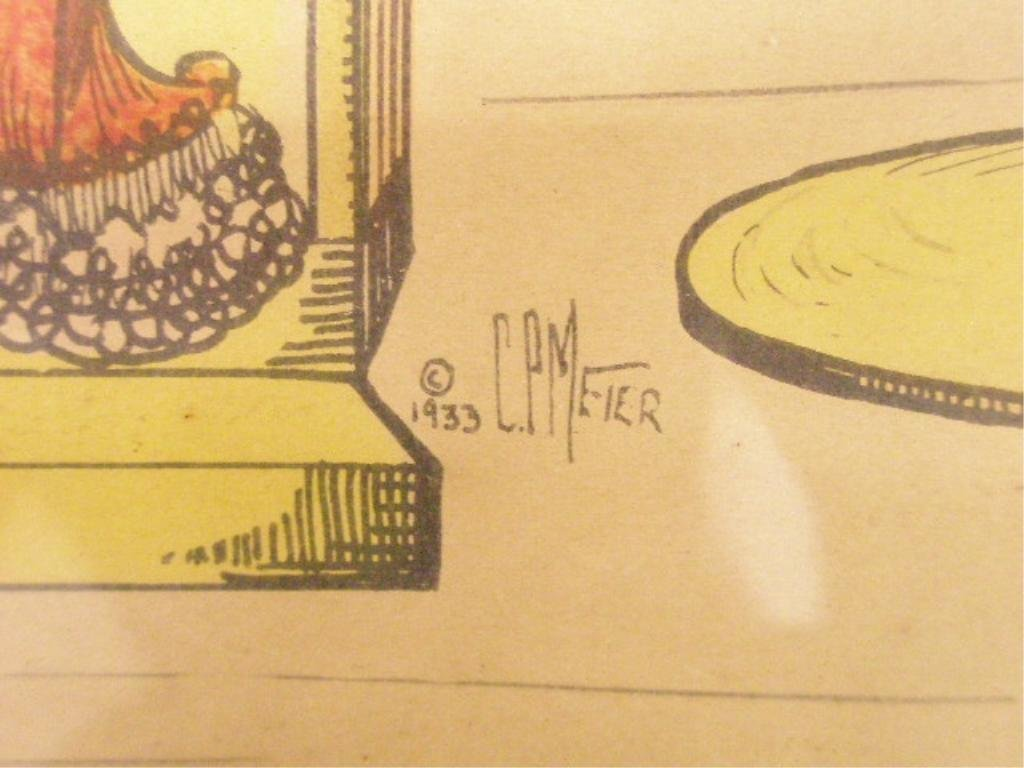 """428A: C.P. Meier, w/c & Ink, """"Come Up Some Time"""" - 2"""