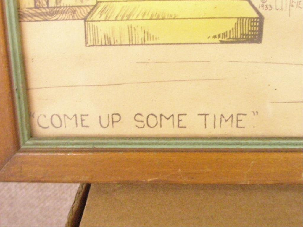 """428A: C.P. Meier, w/c & Ink, """"Come Up Some Time"""" - 3"""